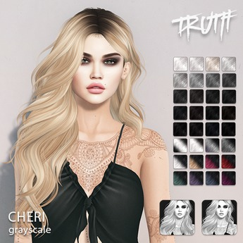 TRUTH Cheri - Grayscale (Fitted Mesh Hair)