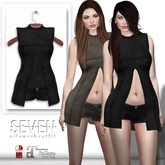 SEVEN - NILA mesh OUTFIT (black)