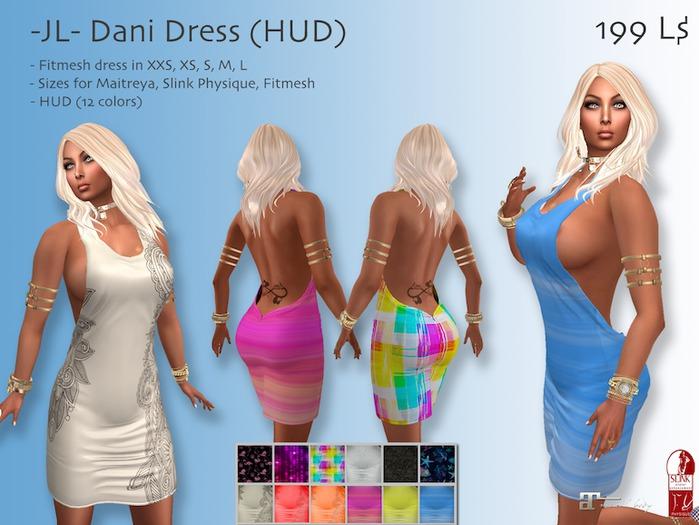 -JL- Dani Dress (HUD) for Maitreya, Slink Physique, Classic
