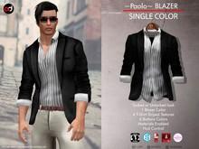 A&D Clothing - Blazer -Paolo- Ebony