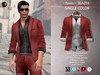A&D Clothing - Blazer -Paolo- Maroon