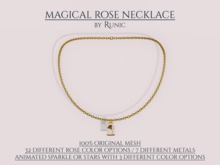 .: Runic :. Magical Rose Necklace