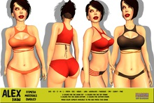 [F] DEMO - Alex Bikini-2 Piece - Fitmesh - FATPACK