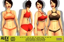 [F] Alex Bikini  - 2 Piece - Fitmesh - FATPACK