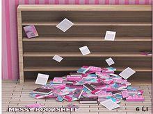Astralia - Messy bookshelf background
