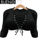 BUENO - Hoody - Black - Belleza, Freya, Isis, Slink, Hourglass, Fit Mesh