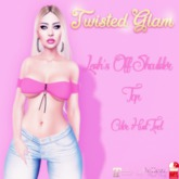 !Twisted Glam. - Leah's Off Shoulder Top with HUD