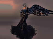 Paris METRO Couture: All That We Are Gown with Mesh Wings and Appliers