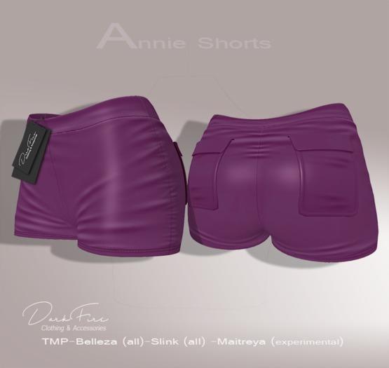 .:DarkFire-Annie Shorts-Grape