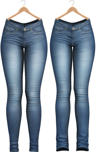 Blueberry - DWL Jeans - Classic Pack - Maitreya, Belleza (All), Slink Physique Hourglass - ( Mesh ) - Dark Blue