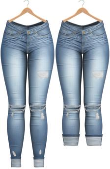 Blueberry - DWL Jeans - Fun Pack - Maitreya, Belleza (All), Slink Physique Hourglass - ( Mesh ) - Bluefun