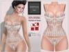BBD - ARIANNA Mesh Lingerie - White - Maitreya Lara Slink Physique Hourglass Corset Panties Sheer Lace