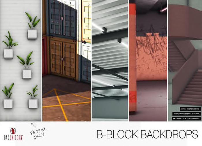 B-Block Backdrops FATPACK (includes bonus backdrop)