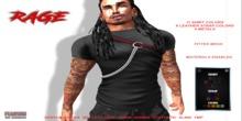 [F] Rage Shirt w/ Strap & Chains - Fitmesh - FATPACK