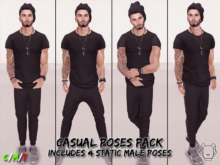 [ E V K ] Casual Poses Pack