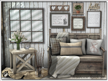 Farmhouse Bench Set