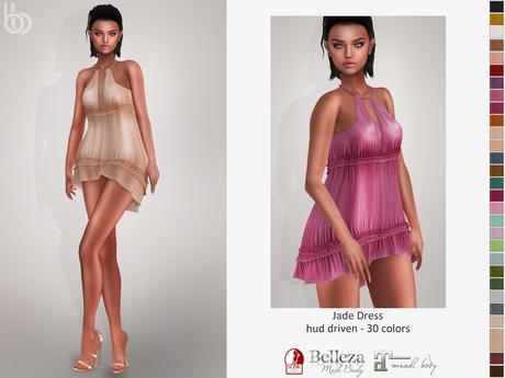 Bens Boutique - Jade Dress - Hud Driven Maitreya,Slink(all),Belleza(all)
