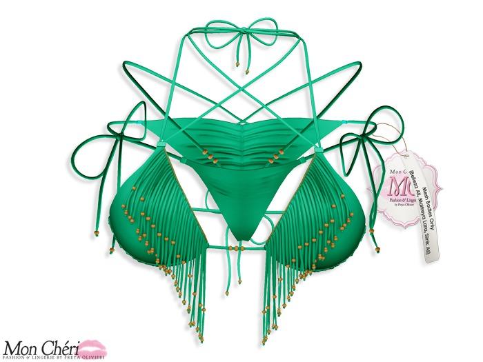 *MC* Tampa Bikini - Solid/Apple