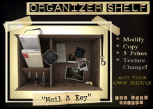 The Prop Shoppe :: Mail Organizer Shelf with TEXTURE CHANGE MENU