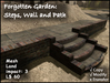 Forgotten Garden: Steps, Wall & Path