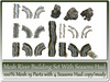 Mesh River Building Set With Seasons Hud 19 Parts copy-mody