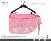 ~Nerido~ Nika Skirt/String (Maitreya/Belleza/Slink)-Pink