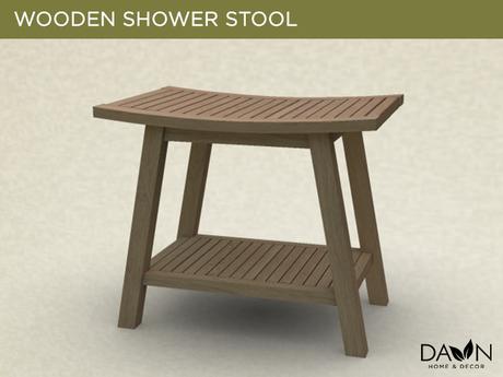 Wooden Shower Stool