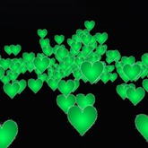 PARTICLE BOUNCING GREEN HEART LARGE