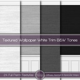 {L} Textured Wallpaper-White Trim-B&W Tones