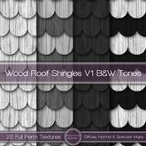 {L} Wood Roof Shingles V1-B&W Tones