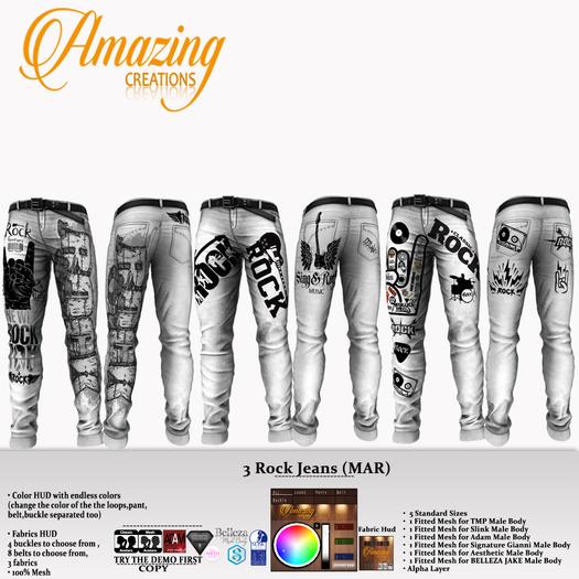 AmAzINg CrEaTiOnS 3 Rock Jeans (MAR)