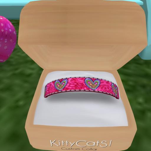 Pastel Hearts Kitty Collar (78)