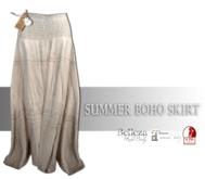 IS SUMMER BOHO SKIRT TIRAMISU