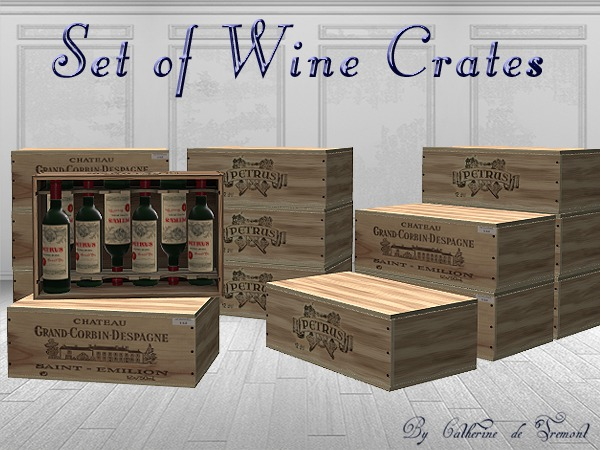 """Cdt"" Wine crates"