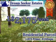 [Residential] - L$2,175/week 1875 Prims, 8192sqm