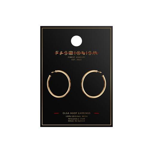 .fashionism. - Olga Hoop Earrings - Gold