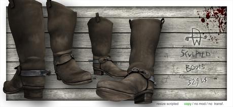 [Deadwool] Western Boots (brown)