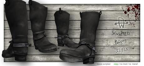 [Deadwool] Western Boots (black)