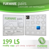 FURWARE pairs - Customizable card matching game