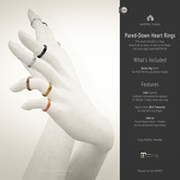 (r)M, Pared-Down Heart Rings < for MAITREYA Bento Hands