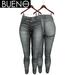 BUENO - Una Jeans - Gray - Belleza, Freya, Isis, Slink, Hourglass, Fit Mesh