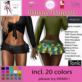 "[Simply Me!] Hotpants ""Habana"" - Maitreya, TMP, Slink, Belleza, Tonic, Ebody"