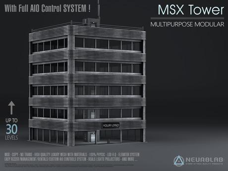 MSX TOWER (STORE+OFFICE + AIO System MESH+MATERIALS) [Neurolab Inc.]