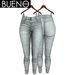 BUENO - Una Jeans - Light Gray - Belleza, Freya, Isis, Slink, Hourglass, Fit Mesh
