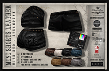 SALEROOM PIXEL BOX - Steampunk Mini Shorts Leather with hud Slink - Maitreya - Belleza Classic