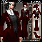 C&F Millicent Victorian Outfit BUNDLE 2 AH - Red