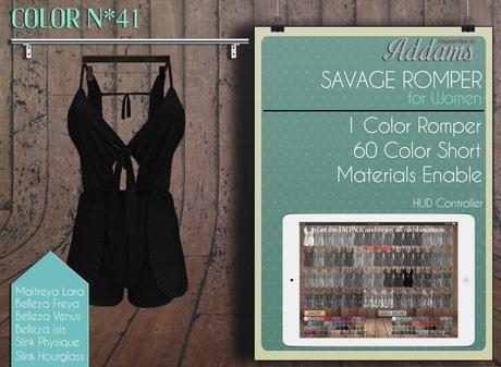 "Addams ""Savage"" Mesh Romper Dress for Maitreya, Belleza, Slink #41"