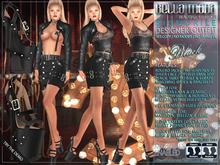"Bella Moda: ""Signorile"" Black Designer Outfit: Maitreya/Classic/Physique/Hourglass/Isis/Venus/Freya+Std - FULL"