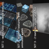 Animated Water Texture collection +smoke, fire and coustic