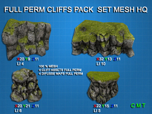 Full Perm Cliffs Pack Set HQ Mesh